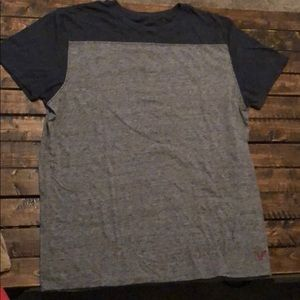 American eagle gray and blue men's T-shirt